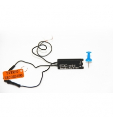 Profesionalus mažas diktofonas EDIC-mini Tiny S+ E84 su dviem išoriniais mikrofonais ir išoriniu maitinimo šaltiniu
